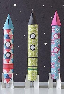 basteln gestalten diy anleitungen spardose raketen und spardose basteln. Black Bedroom Furniture Sets. Home Design Ideas