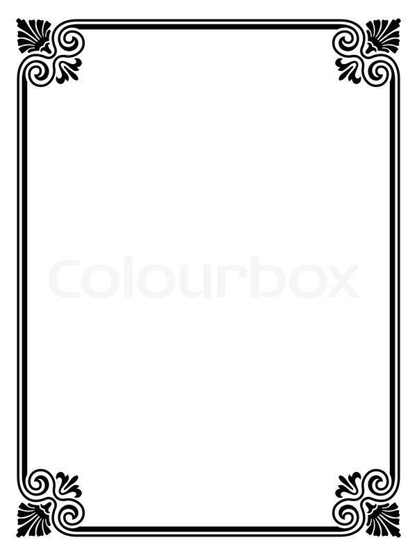 Image result for word border design flower Pinterest Border