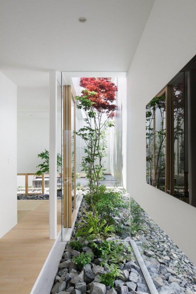 Jardines interiores modernos, jardines pequeños con piedras y ...