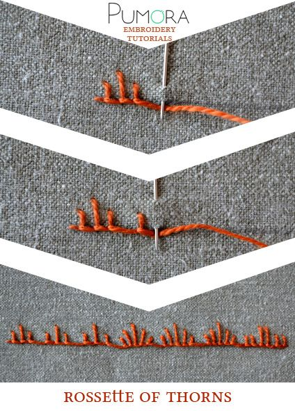 Pumora's embroidery stitch-lexicon: the rossette of thorns