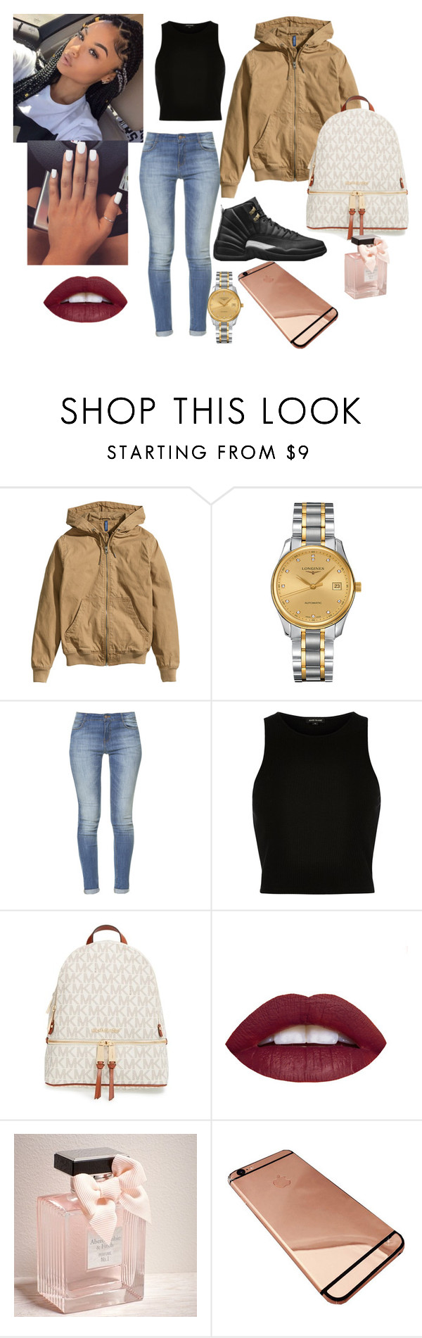 """""""The Master 12s"""" by ohthatsdess ❤ liked on Polyvore featuring H&M, Longines, Retrò, Zara, River Island, MICHAEL Michael Kors, Abercrombie & Fitch, women's clothing, women and female"""