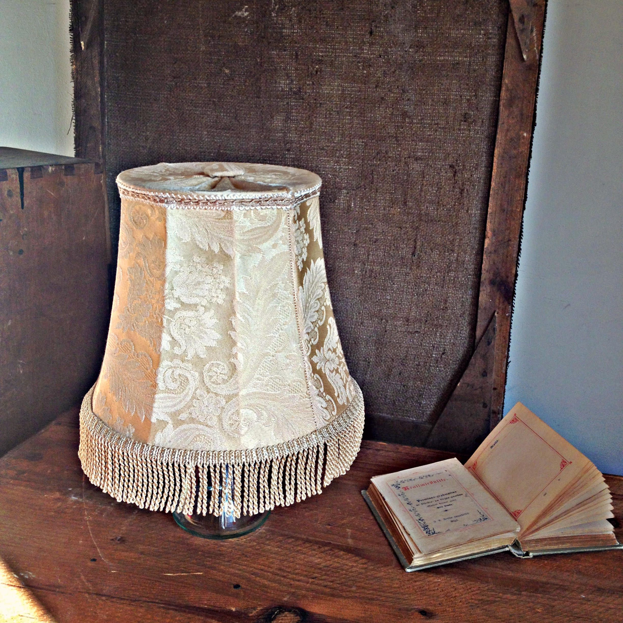 Lamp shade cream ivory vintage fringe lamp shade frame small table lamp shade cream ivory vintage fringe lamp shade frame small table lamp light shade wire frame geotapseo Image collections