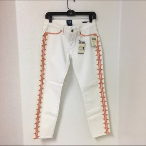 Lucky Ava Mid Rise Skinny Jean With Ditsy Bug Embroidery