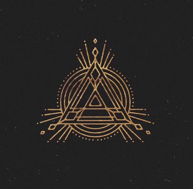 sacred geometry concentric triangles holy trinity bl