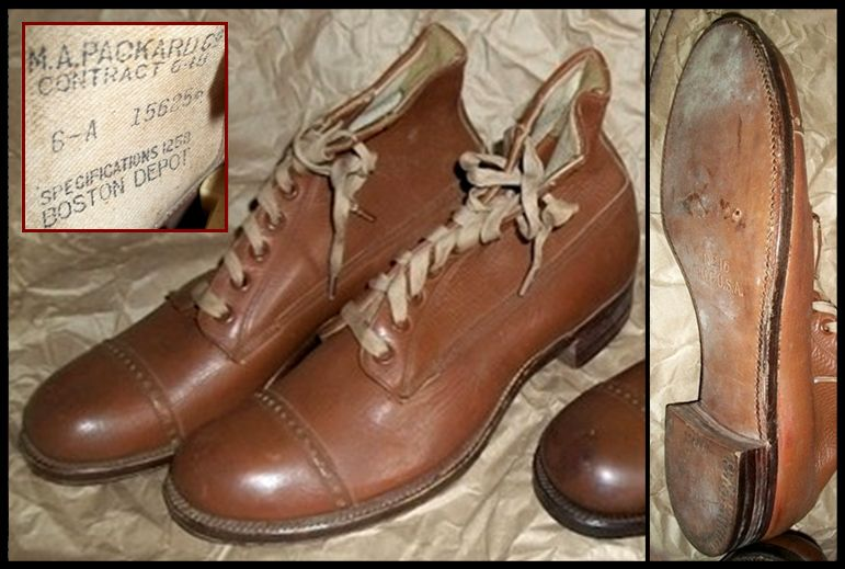 army boots workwear military shoes leather shoes vintage shoes