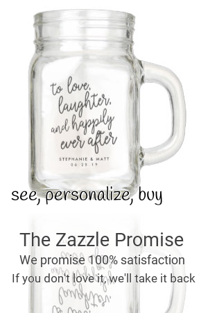 Love Laughter Happily Ever After Wedding Favor Mason Jar Zazzle Com In 2020 Mason Jar Wedding Favors Wedding Tumblers Wedding Favor Sayings