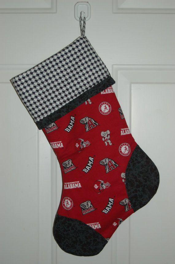 University of Alabama Roll Tide Christmas Stocking by craftinjenn, $16.99