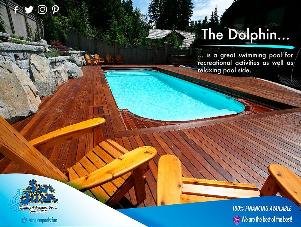 The Dolphin San Juan Pools Fiberglass Pools Relaxing Pool San Juan Pools