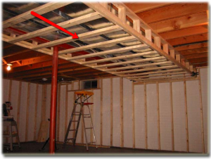 How To Frame Around The Duct Work In Basements In 2019