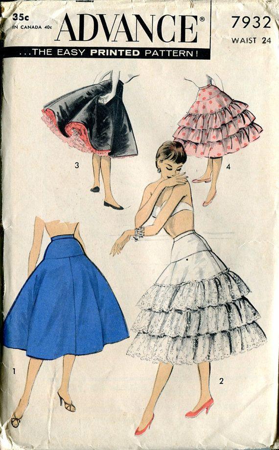 Advance 7932 Petticoat Crinoline Slip Lingerie   SEWING INSPIRATIONS ...
