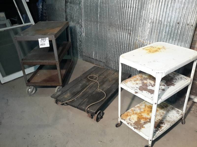 3 Rolling Carts As Pictured.. | Minneapolis Vintage And Antique Furniture  And Accessories.