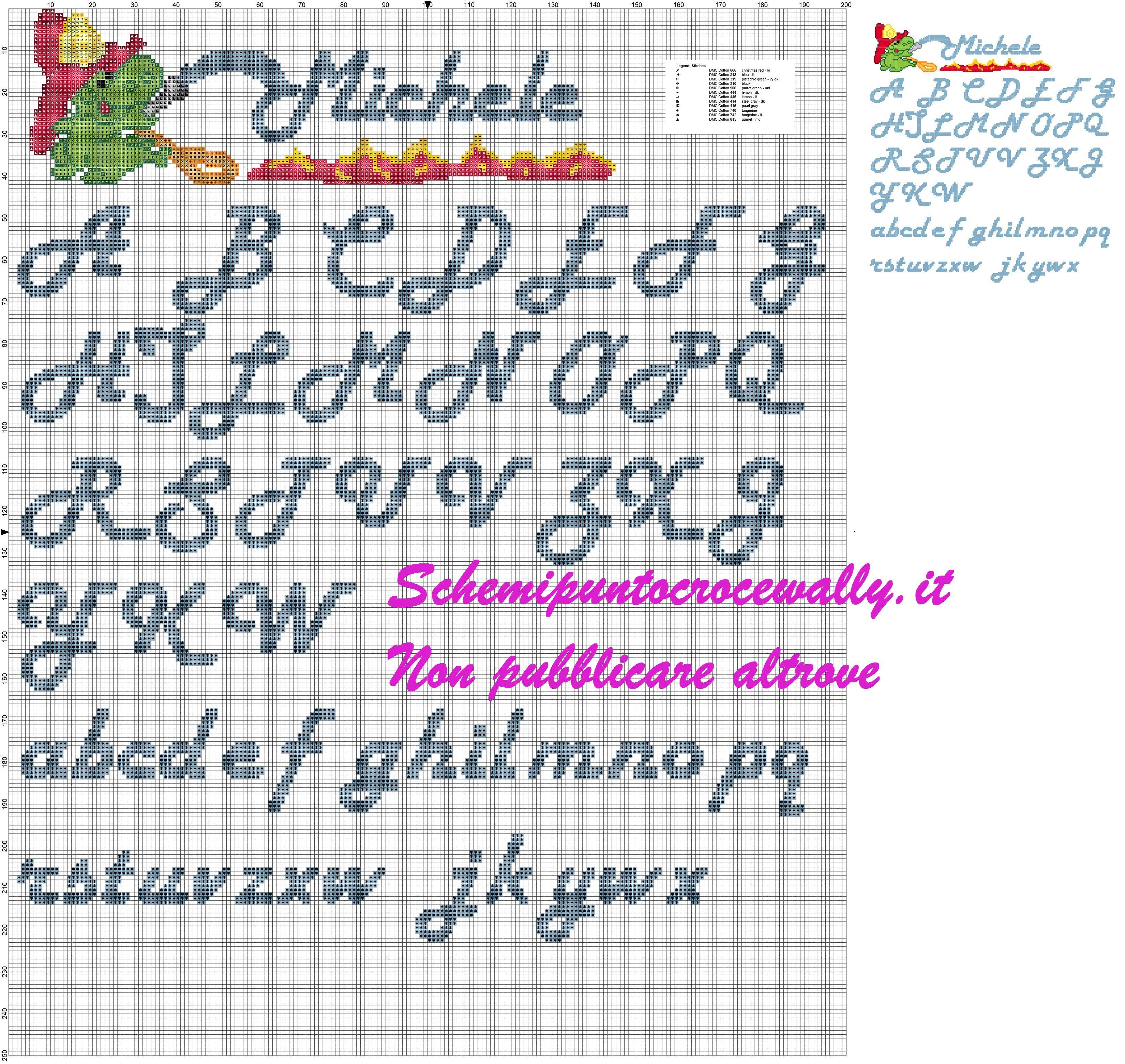 Alfabeto con gris schema punto croce alfabeti schemi for Schemi punto croce alfabeto bambini