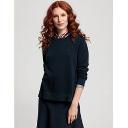 Photo of Gant Baumwoll Piqué Sweater (Blau) GantGant