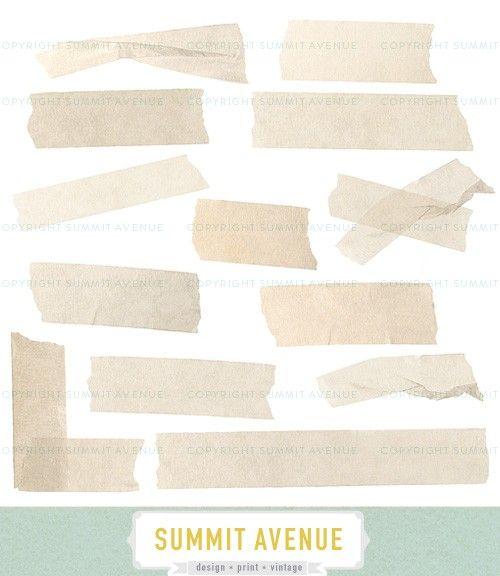 Instant Download Digital Vintage Masking Tape Strips Clip Etsy Masking Tape Vintage Clip Art
