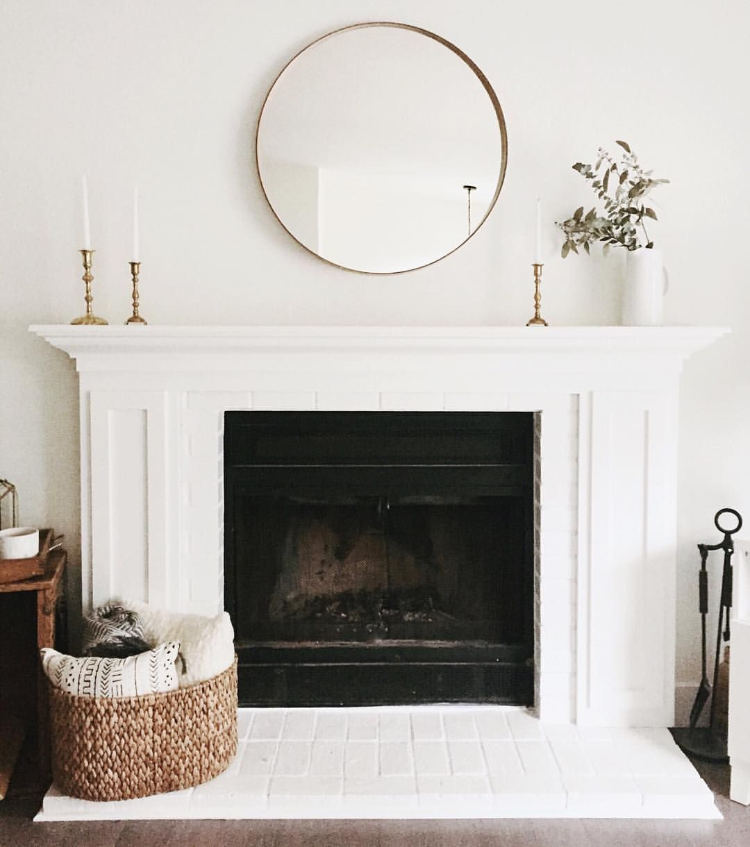 Simple Contemporary And Elegant White Fireplace Decor Home