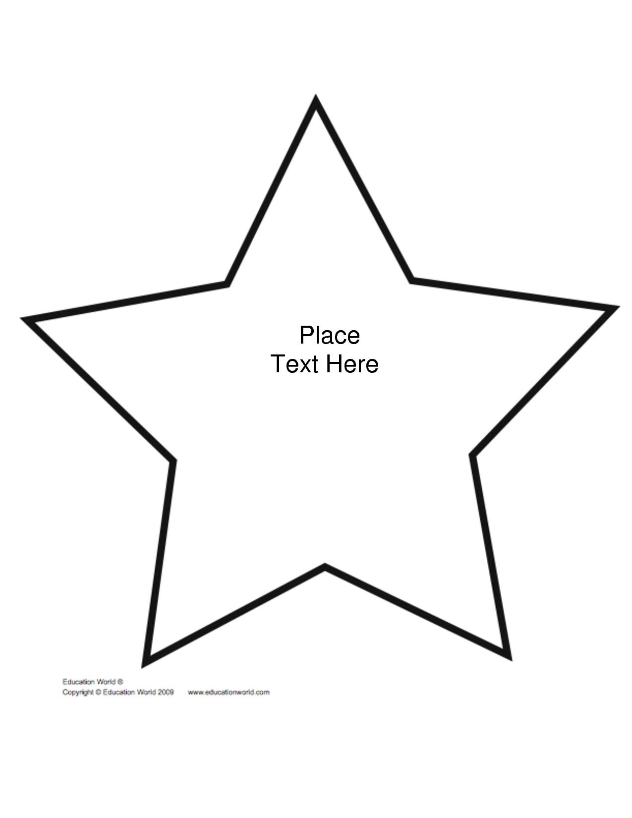 Printable shape star template bedtime story bookfair for Small star template printable free