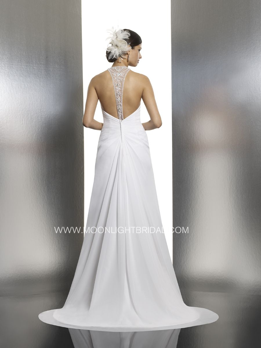 Back detail wedding dress  Beaded and open back wedding dress detailed back beach wedding