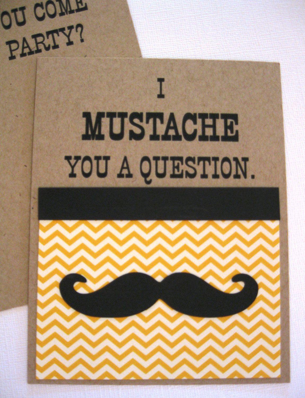 Mustache Party Invitations. $2.50, via Etsy. - 16th birthday part ...