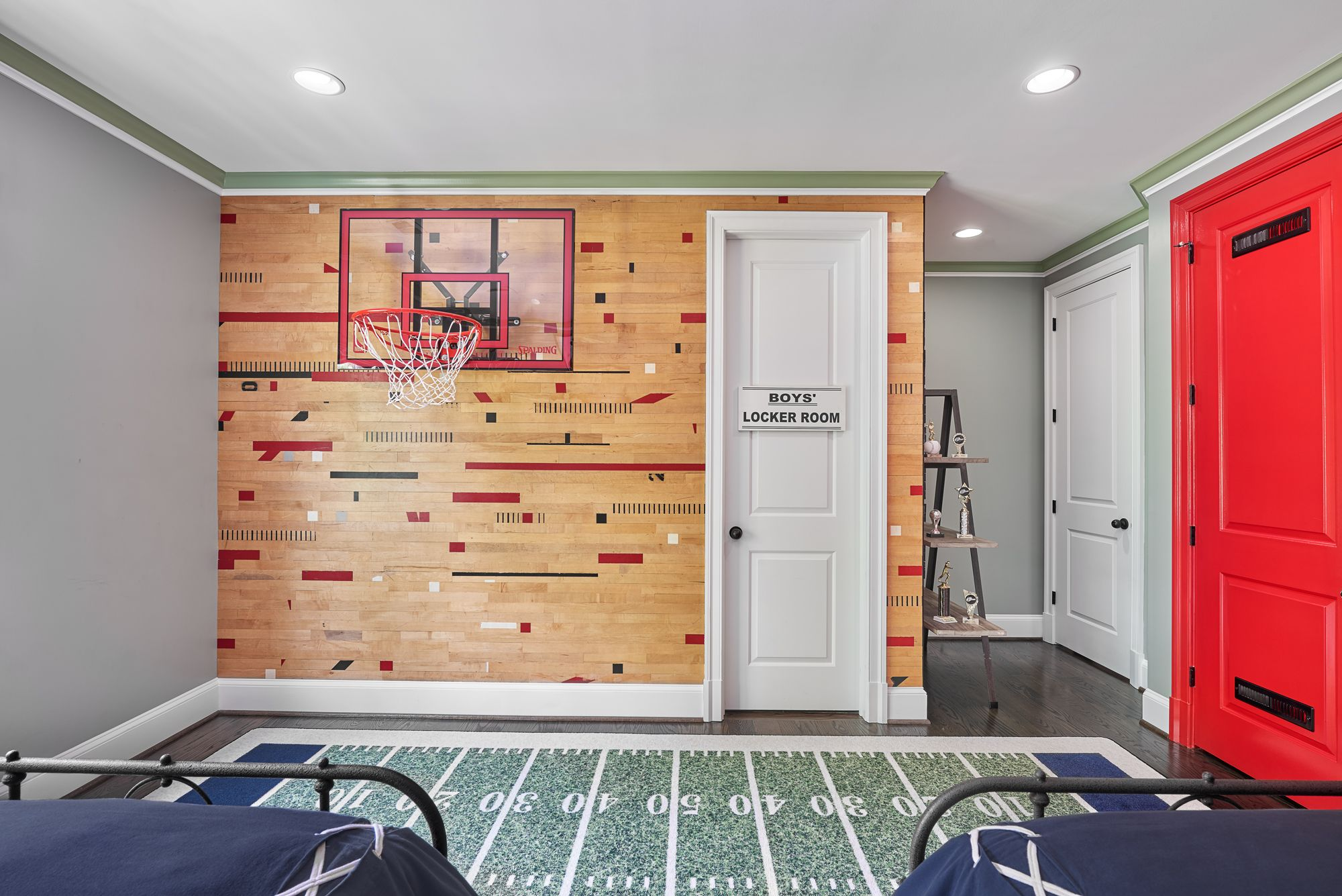 The perfect themed boys room wood wall stikwooddesign reclaimed