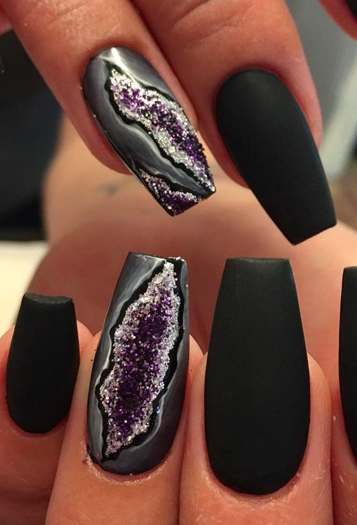 You\'ll Forget All About Galaxy Nails When You See Geode Nails ...