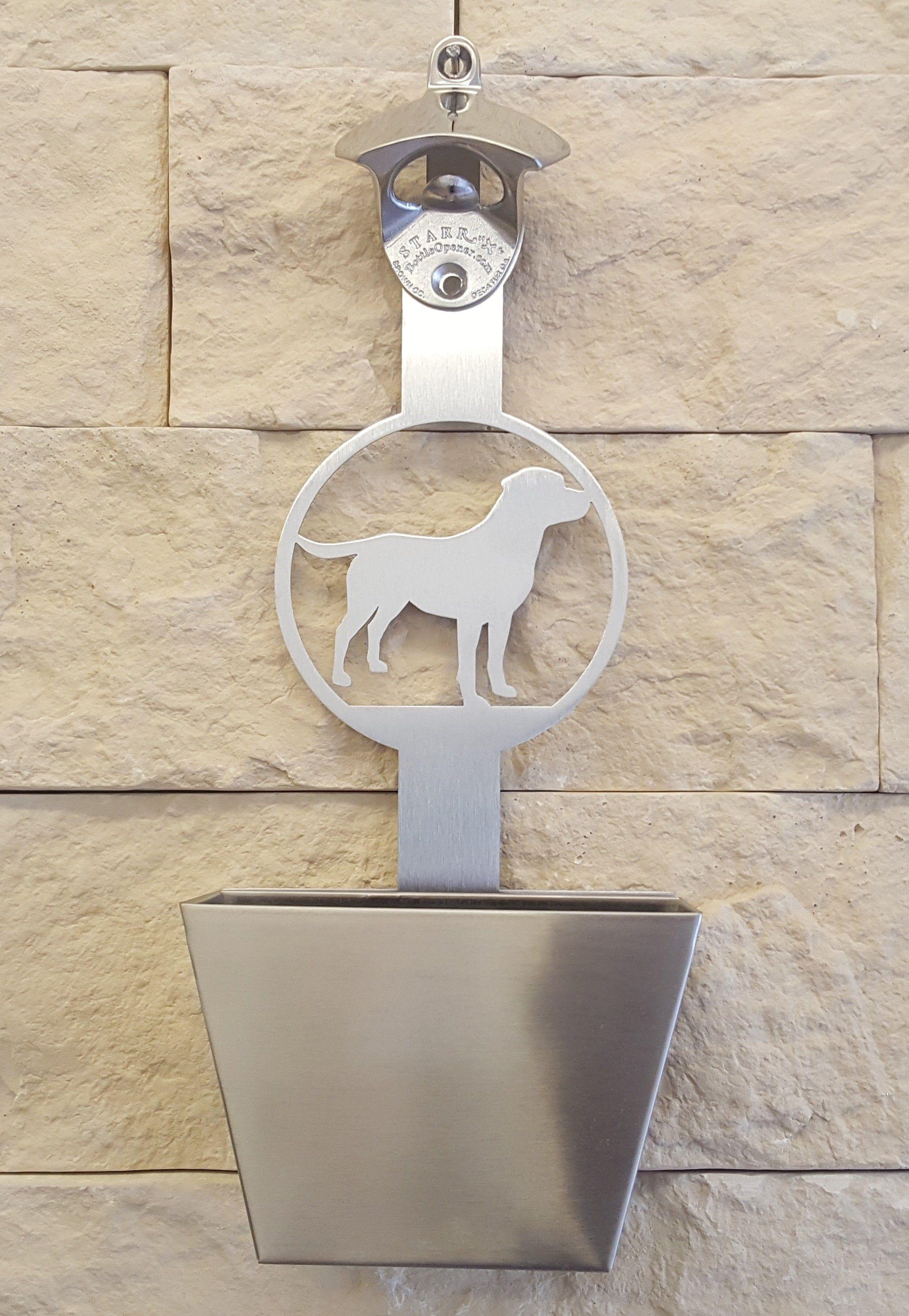 Wandflaschenöffner Labrador   Wandflaschenöffner