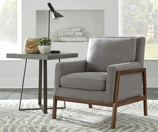 Gray Wood Club Accent Chair Accent Chairs For Living Room