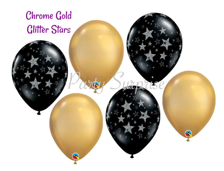 "11/"" Hollywood Stars Latex Balloons Qualatex Helium or Air Oscars Adult Party"