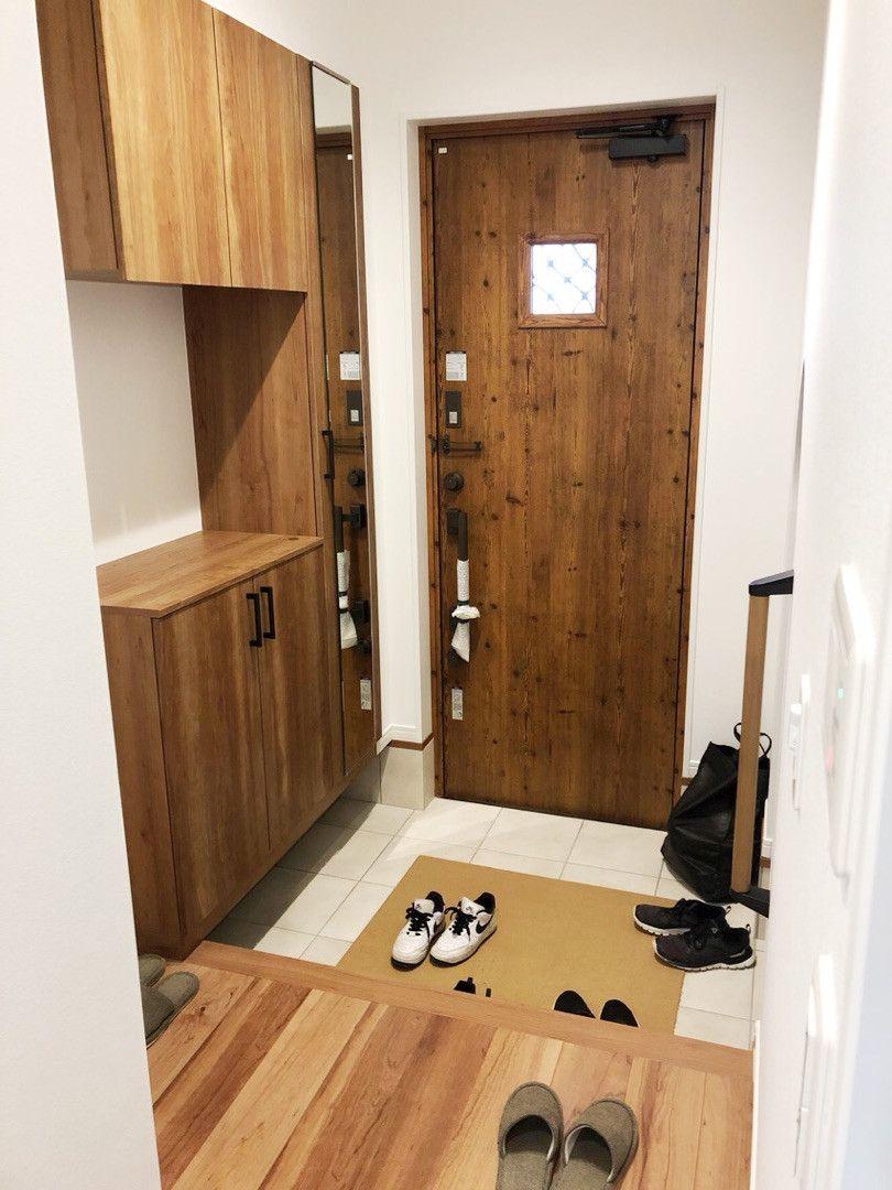 28坪の家 Web内覧会1 玄関内側 モダンハウスデザイン 和モダンのインテリア 玄関