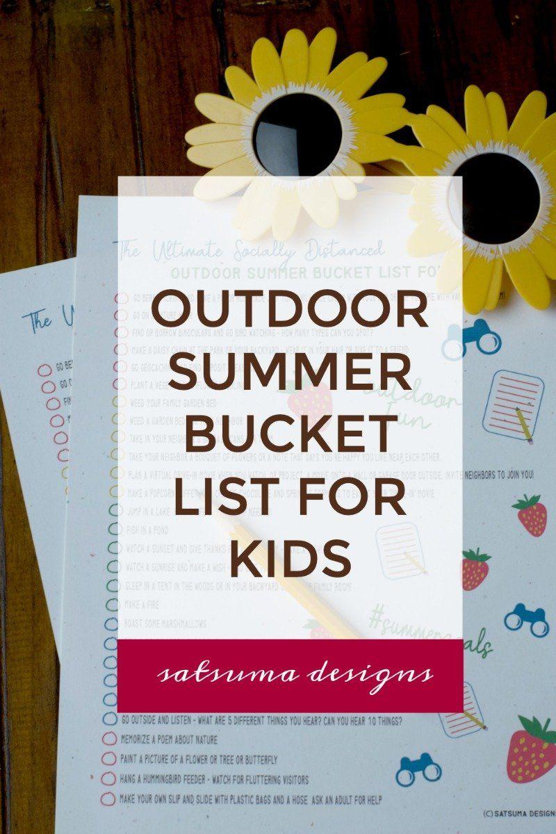 The Ultimate Socially Distanced Outdoor Summer Bucket List