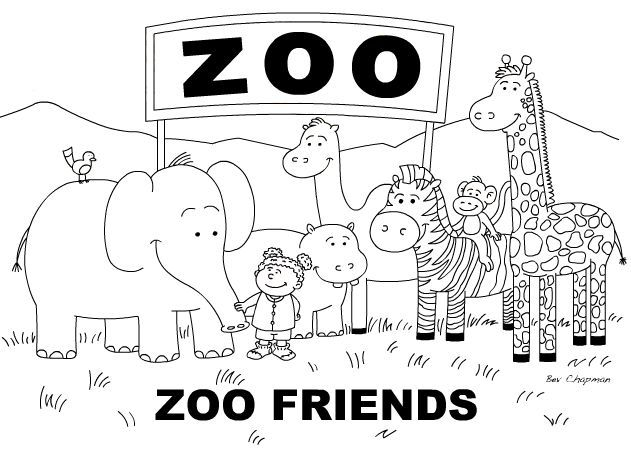 free zoo coloring page - Preschool Animal Coloring Pages