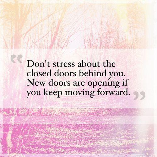 When one door closes, three more open…