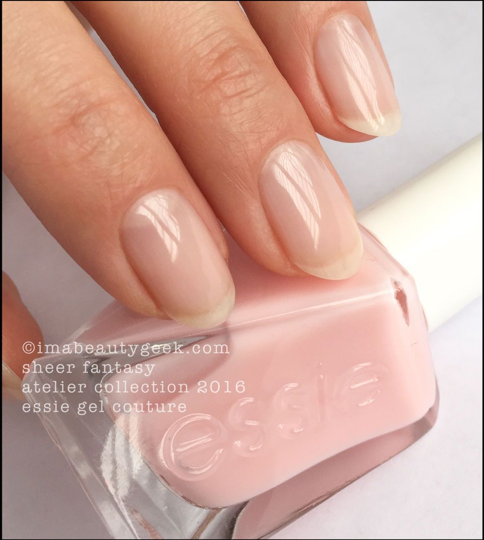 Essie Sheer Fantasy_Essie Gel Couture Swatches Review 2016 | Nails ...