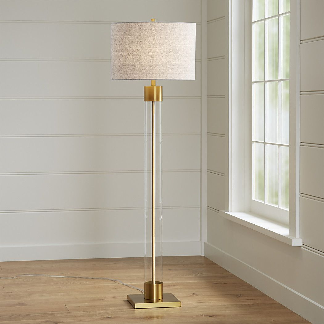 Avenue Brass Floor Lamp + Reviews Crate and Barrel