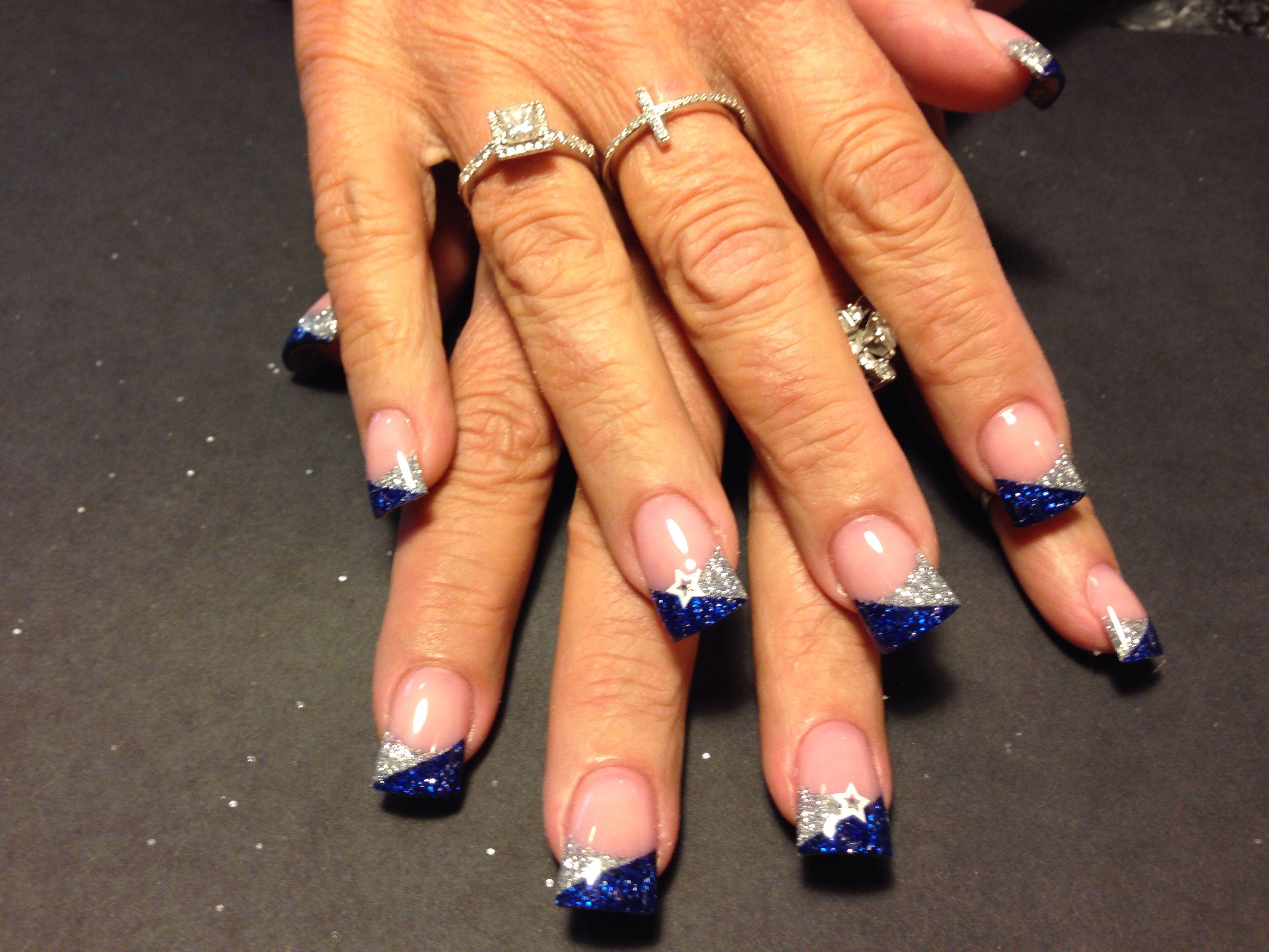 Glitter Cowboys nails | Nails | Pinterest | Cowboy nails, Cowboys ...