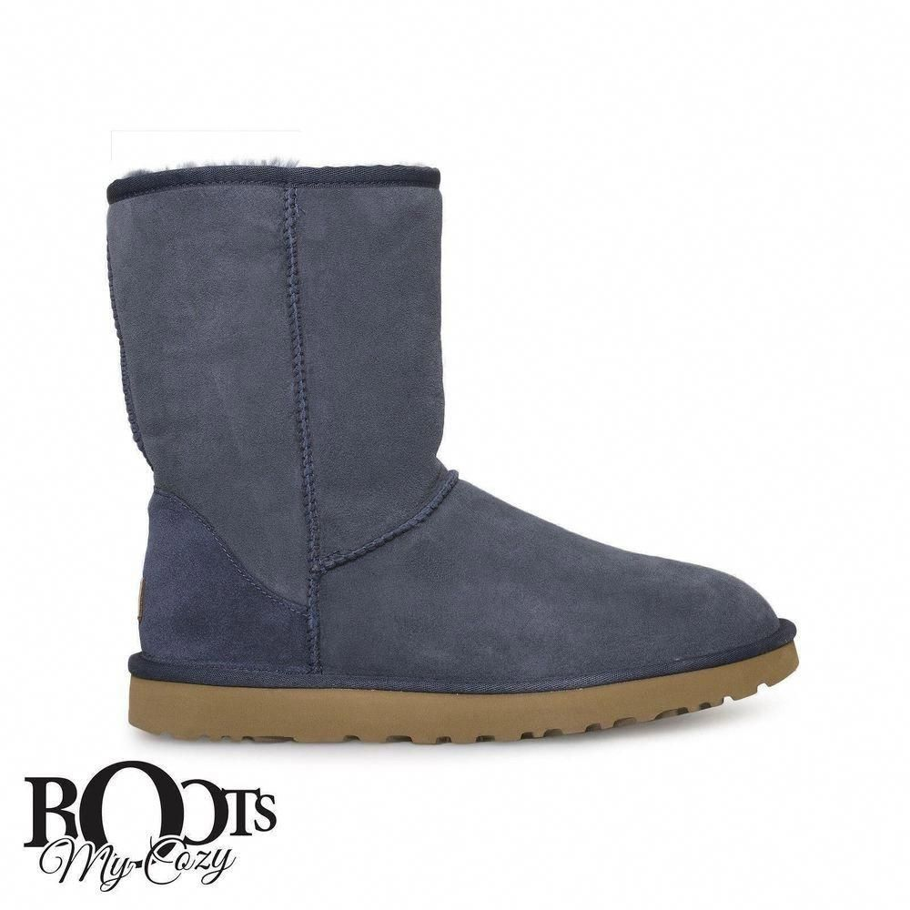 689610c5ab UGG CLASSIC SHORT II NAVY SUEDE SHEEPSKIN WOMENS BOOTS SIZE US 12 UK 10.5  NEW  fashion  clothing  shoes  accessories  womensshoes  boots (ebay link)    ...