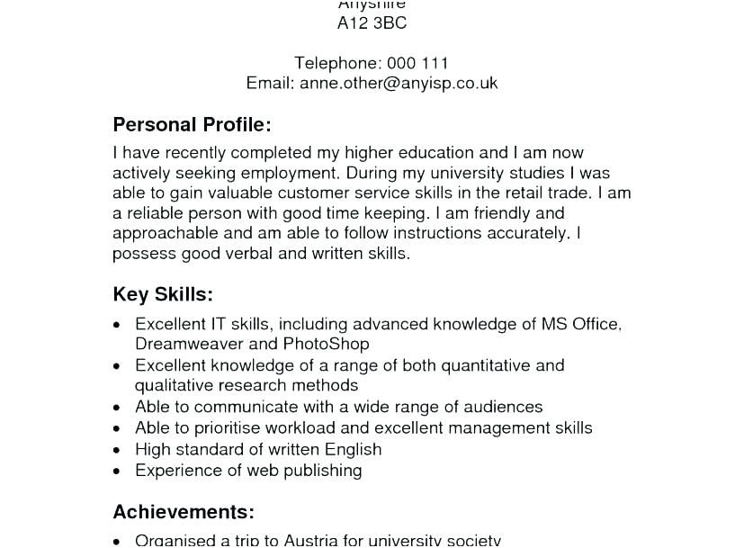 best example resumes resume examples profile career profile ...