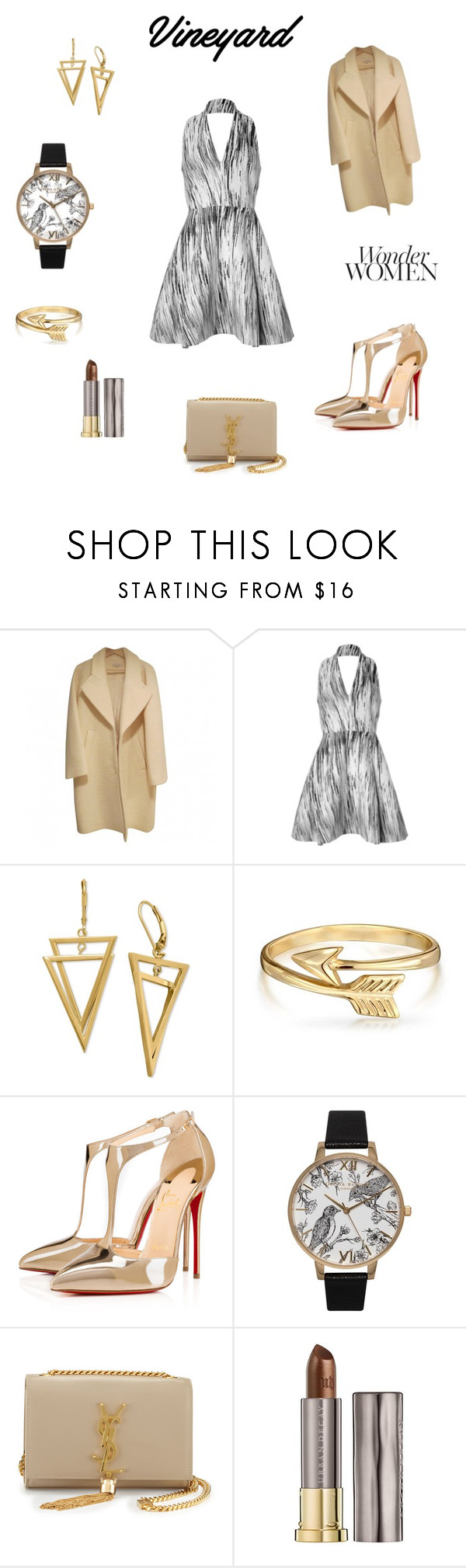 """""""In a Moment's Time"""" by gzvip78 ❤ liked on Polyvore featuring Kenzo, Bling Jewelry, Christian Louboutin, Olivia Burton, Yves Saint Laurent, Urban Decay, napa, winerywedding, bestdressedguest and vineyardwedding"""