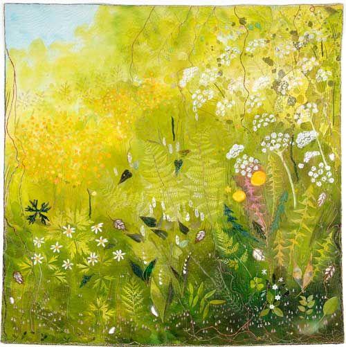 """Maija Brummer contemporary quilts """"Mellow yellow"""""""