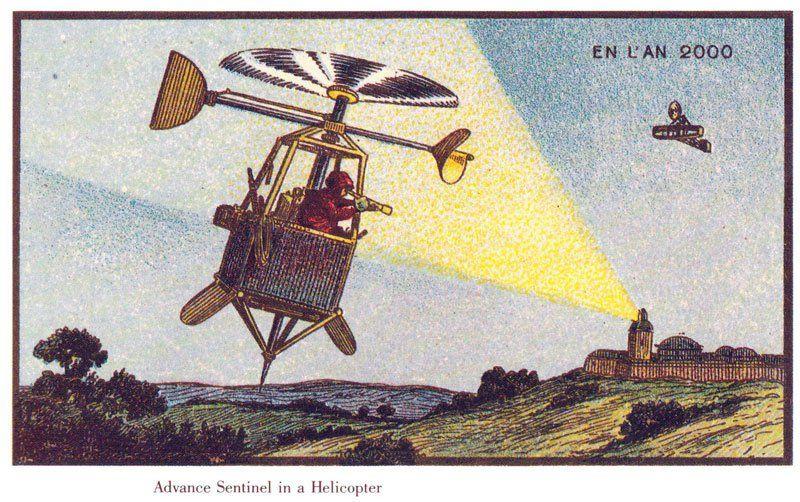 100 anos atrás, artistas foram convidados para ilustrar como seria o ano de 2000. Confira como foram os resultados
