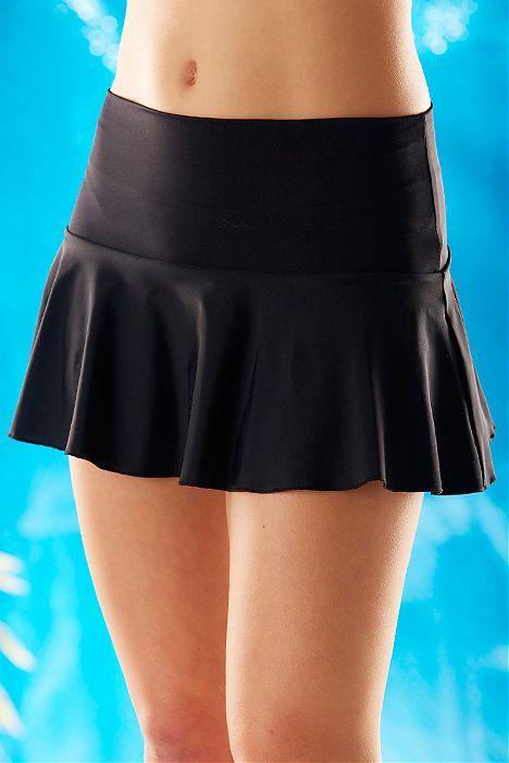 Black Sassy Swimwear Skirt   Hapari Swimwear