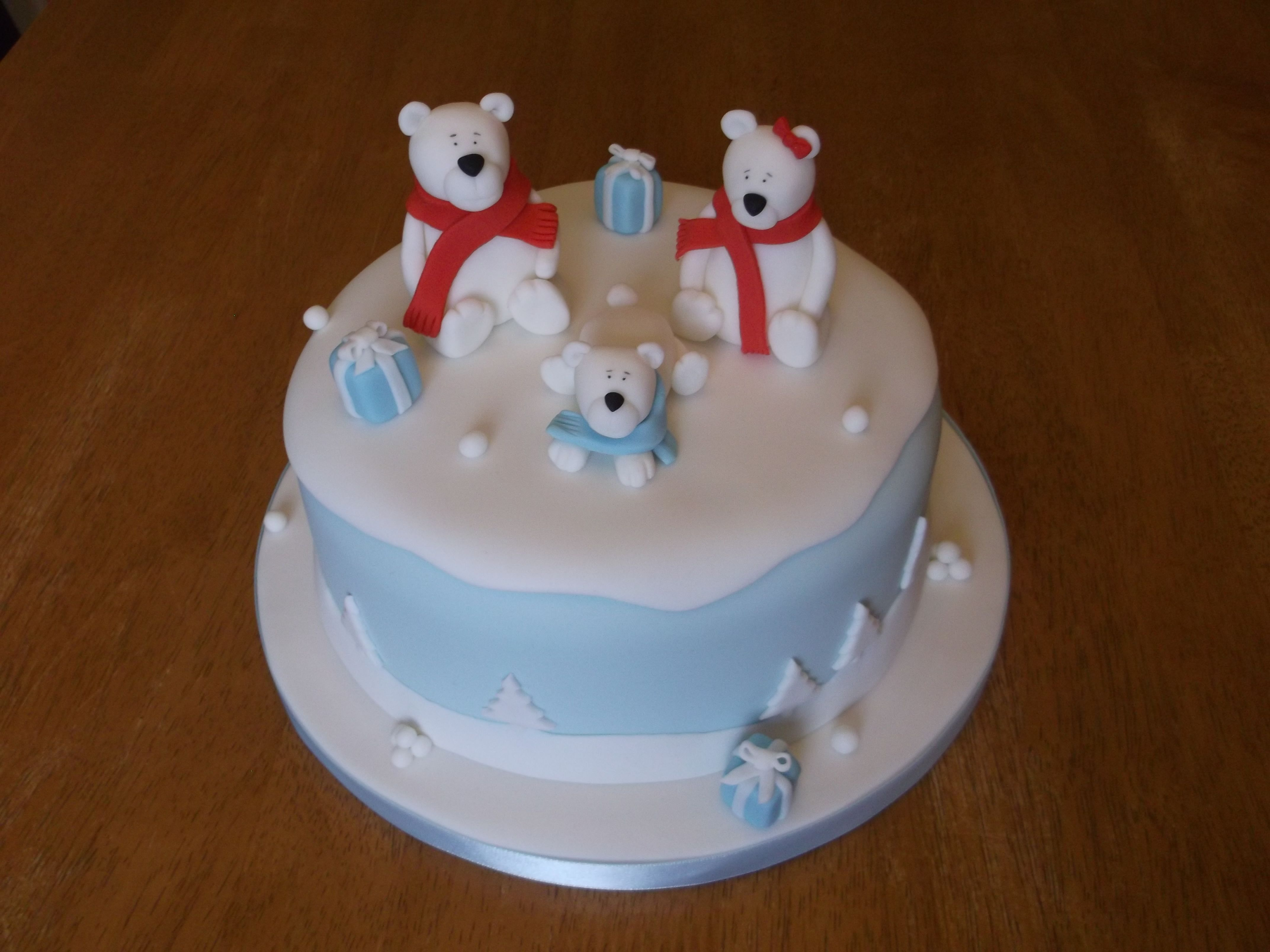 Christmas Polar Bears Cake
