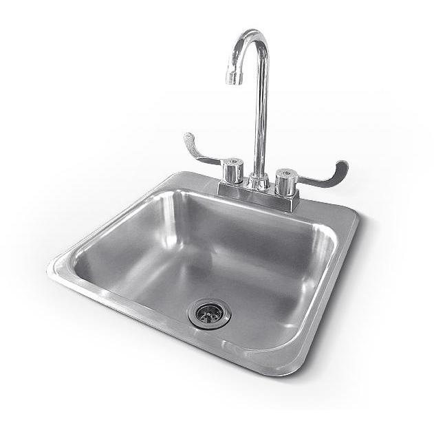 Rcs 15 X 15 Outdoor Rated Stainless Steel Drop In Sink With Hot Cold Faucet Rsnk1 Outdoor Kitchen Sink Sink Stainless Steel Faucets