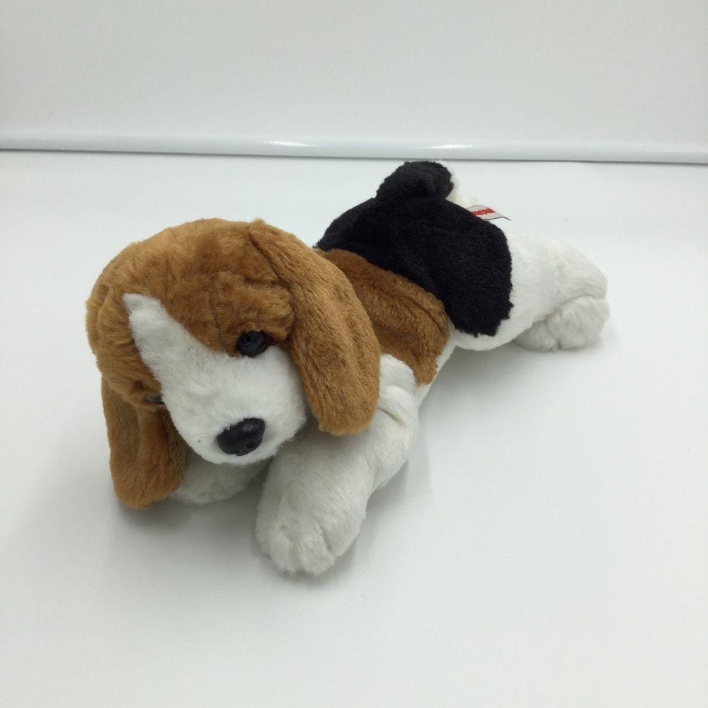 Aurora Beagle Brown White Black Dog Plush Soft Toy Stuffed 8