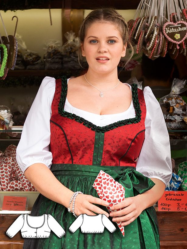 Plus Size Dirndls: 10 New Women\'s Plus Size Sewing Patterns in 2018 ...