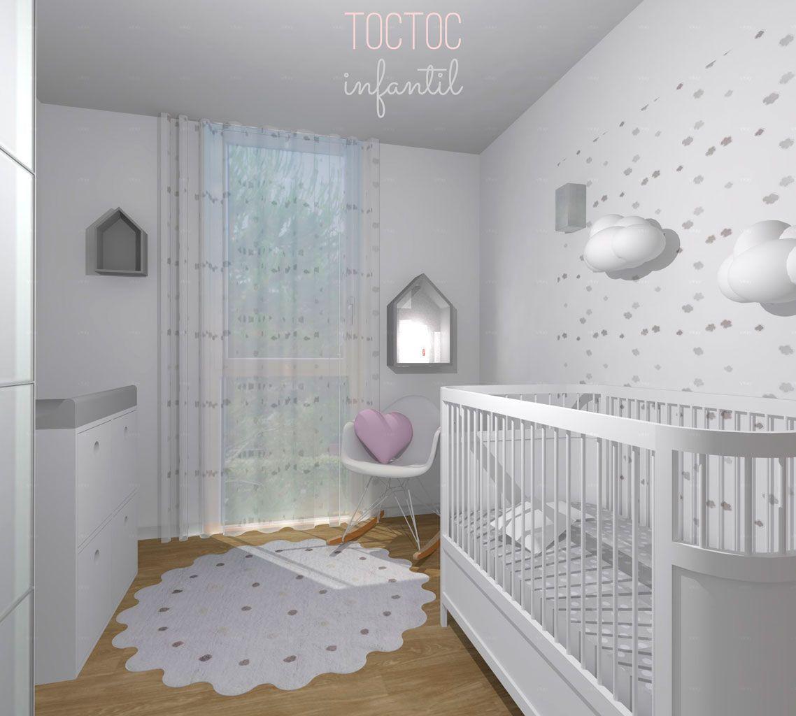 Pinceladas de rosa toc toc infantil nuestras - Habitacion infantil rosa ...