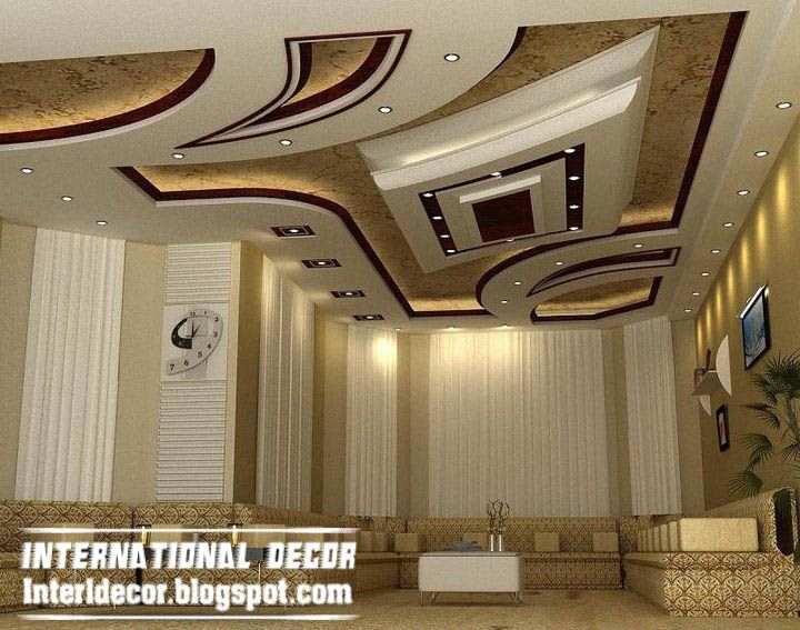 Exclusive False Ceiling Designs Ideas 2017 For Modern Living Room With  Modern Ceiling Ideas And Light, Modern Gypsum False Ceiling Interior Designs  For ...