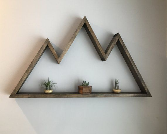 Mountain Range Shelf Floating Shelf Large Wooden Shelf Home Decor Floating Shelves Diy Wood Wall Decor Shelves