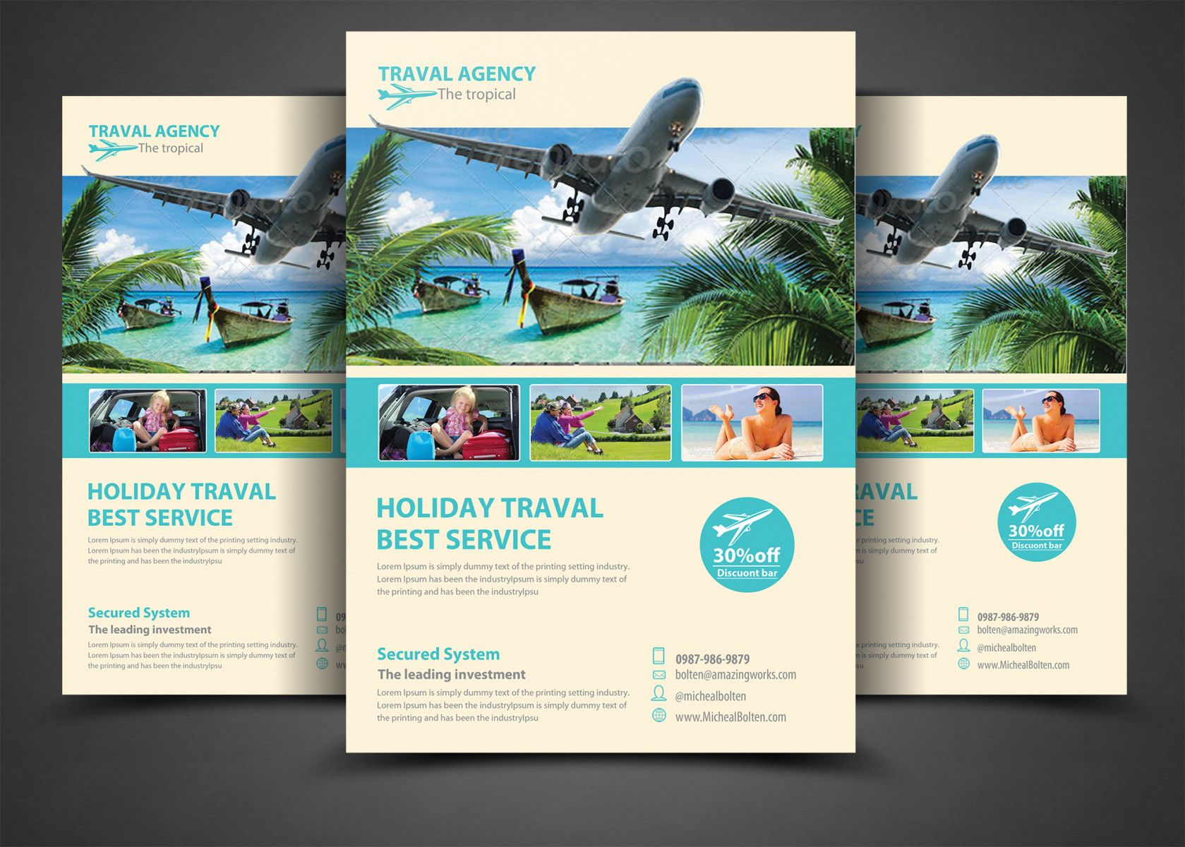 15 Travel Tourism Flyer Psd Templates Travel And Tourism Tourism Brochure Travel Agency