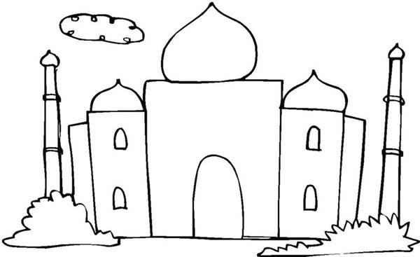 Kids Drawing Of Taj Mahal Coloring Page Netart Drawing For Kids Coloring Pages Taj Mahal Drawing