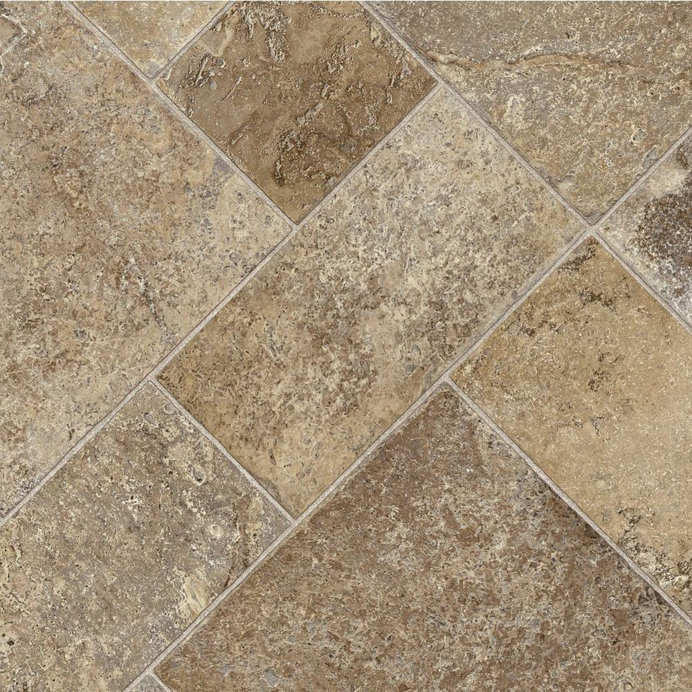 Trafficmaster Coffee Diagonal Tile Vinyl Sheet Sold By 12 Ft Wide X Custom Length U5290 258c946p144 The Home Depot Vinyl Sheet Flooring Vinyl Sheets Flooring